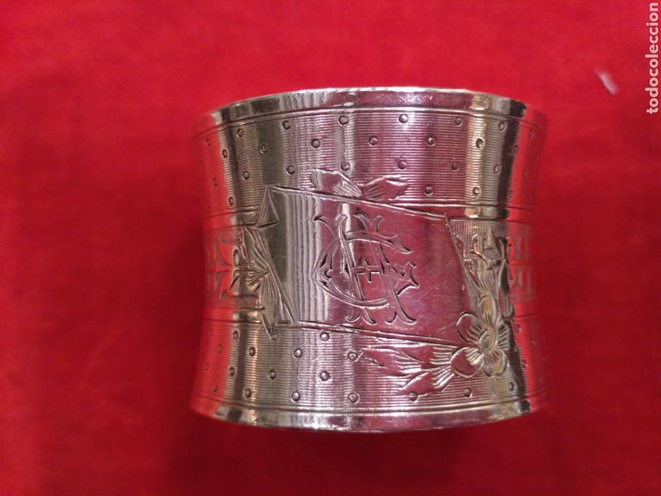 Antigüedades: Anillo de servilleta plateado - Foto 3 - 66867386