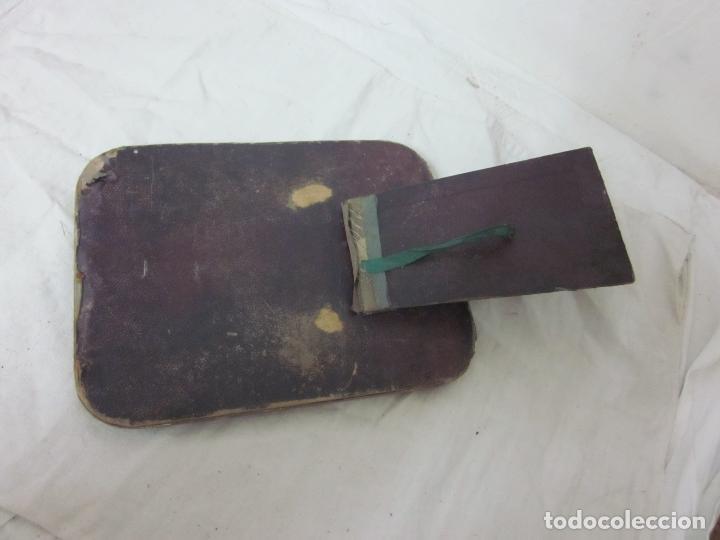 Antigüedades: Antiguo espejo de sobremesa de principios s.XX, original - Foto 3 - 66886566