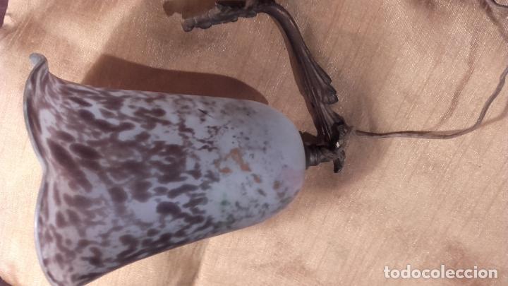 Antigüedades: Pantalla Tulipa pasta de vidrio antigua - Foto 3 - 66901762