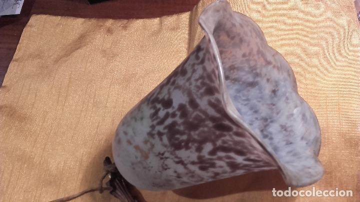 Antigüedades: Pantalla Tulipa pasta de vidrio antigua - Foto 4 - 66901762