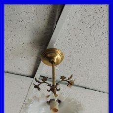Antigüedades: LAMPARA DE TECHO CON TULIPA DE CRISTAL. Lote 66909310