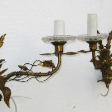 Antigüedades: RESTAURADA PAREJA DE LAMPARAS ANTIGUAS DE PARED APLIQUES TIPO MAISON JANSEN FRANCIA 1920. Lote 103256959