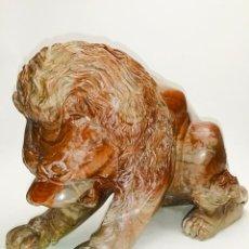 Antigüedades: LEÓN EN PIEDRA NATURAL. Lote 66951142