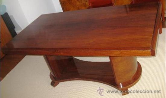 Gran mesa de comedor art deco en madera de pali comprar for Palisandro muebles