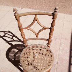 Antigüedades: PRECIOSA SILLA DE REJILLA Y MADERA TORNEADA. Lote 67037582