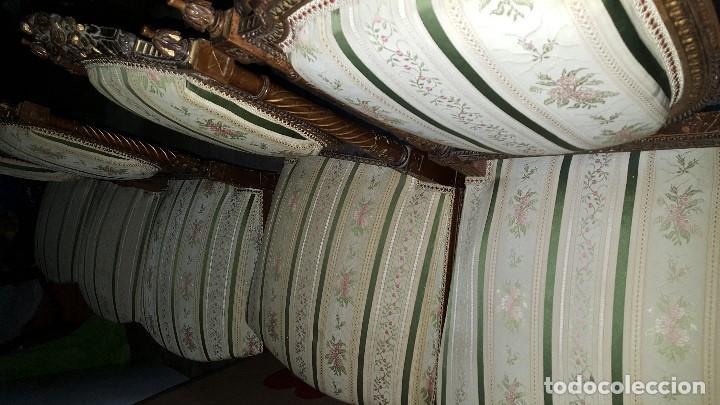 Antigüedades: 5 SILLAS ISABELINAS Y TRESILLO - Foto 10 - 67038790