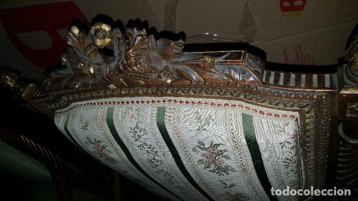 Antigüedades: 5 SILLAS ISABELINAS Y TRESILLO - Foto 12 - 67038790