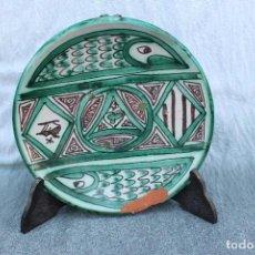 Antigüedades: ANTIGUO PLATO FIRMADO PUNTER CERAMICA TERUEL. Lote 67045514