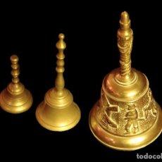 Antigüedades: PRECIOSAS CAMPANAS DE BRONCE, ANTIGUAS.. Lote 67046178