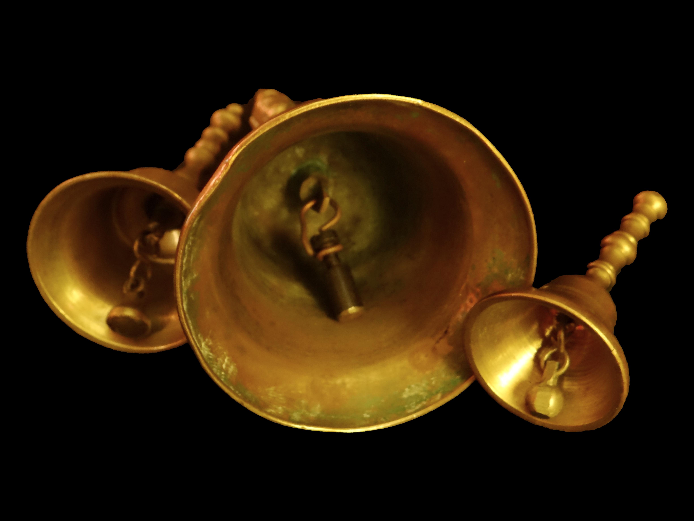 Antigüedades: Preciosas campanas de bronce, antiguas. - Foto 2 - 67046178