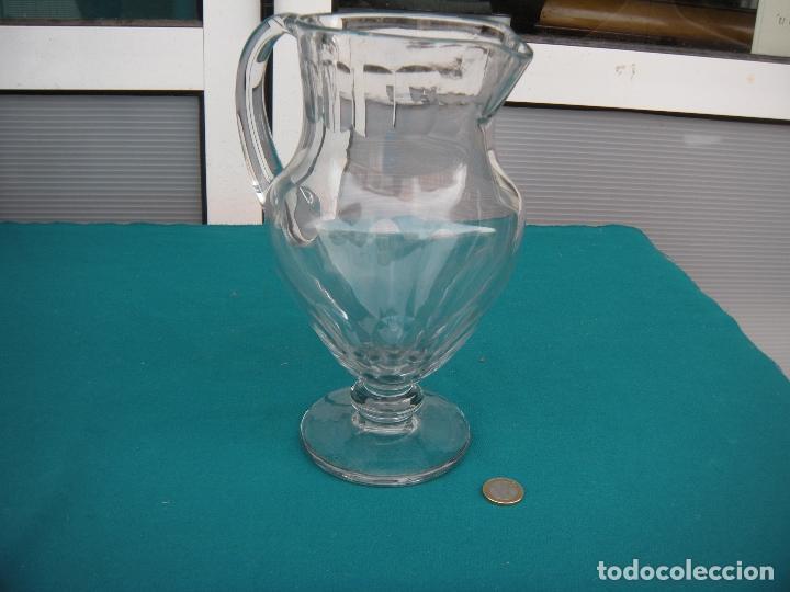 Antigüedades: JARRA DE CRISTAL FACETADA - Foto 4 - 67049614