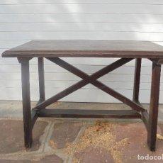 Antigüedades: MESA TOCINERA DE PINO. Lote 67052974