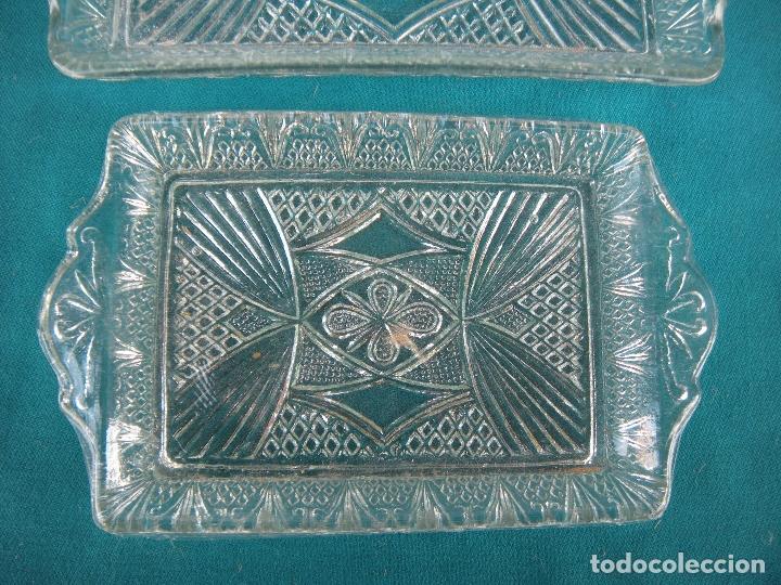 Antigüedades: BANDEJA DE VIDRIO MOLDADO, LOTE DE 3 - Foto 2 - 67072858