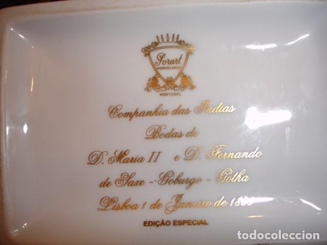 Antigüedades: JARRON CONMEMORATIVO BODA REINA MARIA II DE PORTUGAL LISBOA 1886.COMPAÑIA DE INDIAS 34 CM ALTURA - Foto 4 - 67079897