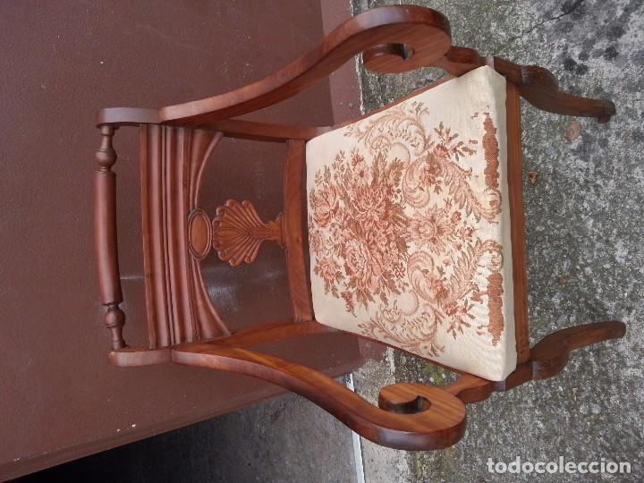 SILLON DE CAOBA MACIZA S.XIX (Antigüedades - Muebles Antiguos - Sillones Antiguos)