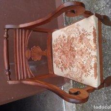 Antigüedades: SILLON DE CAOBA MACIZA S.XIX. Lote 67083185