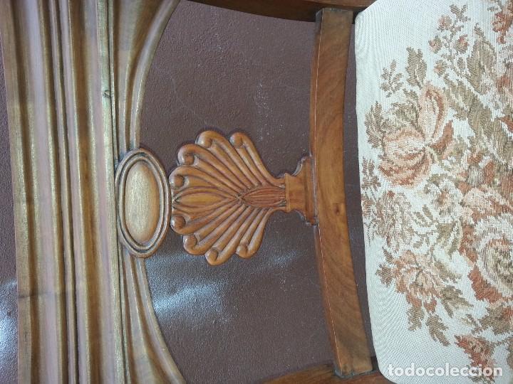 Antigüedades: SILLON DE CAOBA MACIZA S.XIX - Foto 2 - 67083185