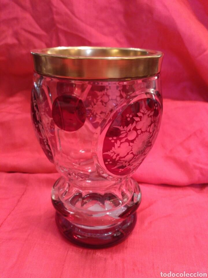 Antigüedades: Vaso de cristal de Bohemia - Foto 2 - 67106942