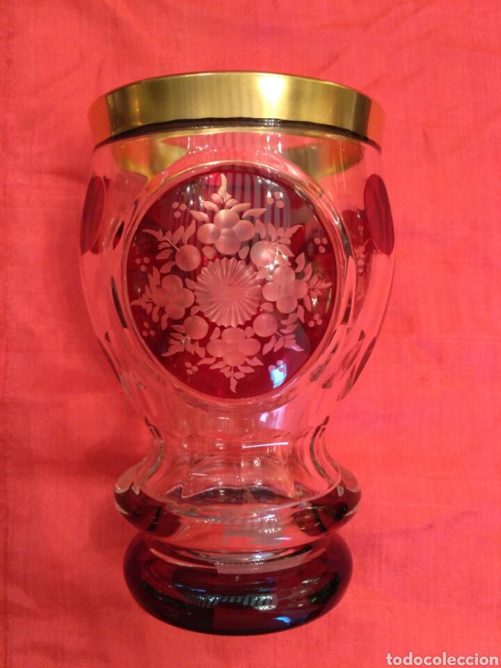 Antigüedades: Vaso de cristal de Bohemia - Foto 4 - 67106942