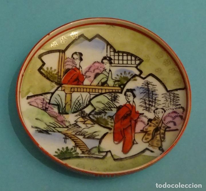 PLATO CON BORDES ELEVADOS DE PORCELANA TRASLUCIDA. DIÁMETRO 9,5 CM (Antigüedades - Porcelana y Cerámica - Japón)