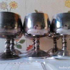 Antigüedades: 6 COPAS DE ALPACA - JJAL. Lote 67136005