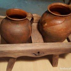 Antigüedades: PUCHEROS ANTIGUOS Y CANTARERO. . Lote 67173253
