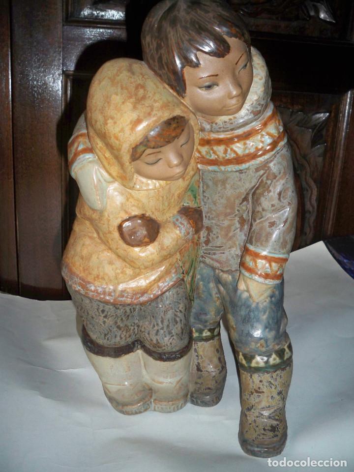 Antigüedades: FIGURA LLADRO NIÑOS DEL ARTICO ESQUIMALES - Foto 2 - 67186965
