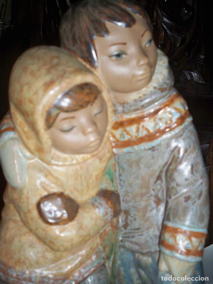Antigüedades: FIGURA LLADRO NIÑOS DEL ARTICO ESQUIMALES - Foto 3 - 67186965