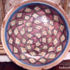 Antigüedades: RARO PLATO EN CERÁMICA DE RIBESALBES (VALENCIA). SIGLO XIX. 25 CM.. Lote 67204845