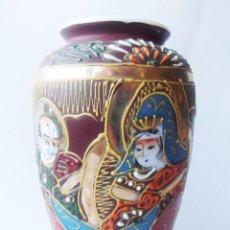 Antigüedades: JARRON PORCELANA JAPONESA SATSUMA, 23 CMTS DE ALTO. Lote 67209249