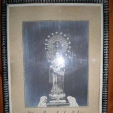 Antigüedades: ANTIGUA FOTO DE NUESTRA SEÑORA DE LA CABEZA ENMARCADA HECHA POR FOTOGRAFIA MARTINEZ CARAVACA. Lote 67210833