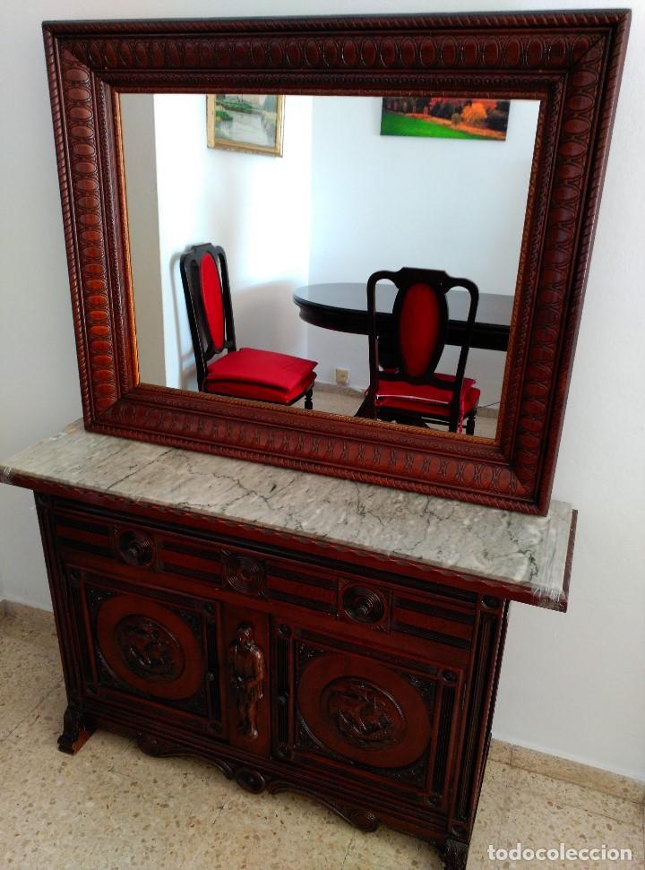 Solo madera tallada comprar espejos - Espejos grandes segunda mano ...