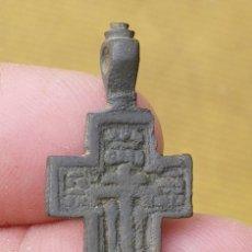Antigüedades: ANTIGUA CRUZ ORTODOXA ( 35 MM. ) SIGLO XVII - XIX - BRONCE. Lote 67256341