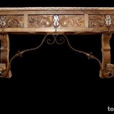 Antigüedades: ANTIGUA MESA DE NOGAL. Lote 67261873