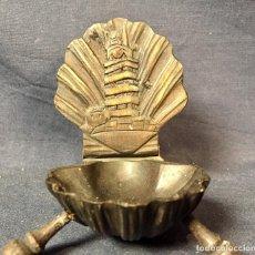 Antigüedades: CAJA MADERA FARO TORRE HERCULES LA CORUÑA SOUVENIR SUVENIR CONCHA PEREGRINO VIEIRA GALICIA 3,5X6,5X6. Lote 67296669