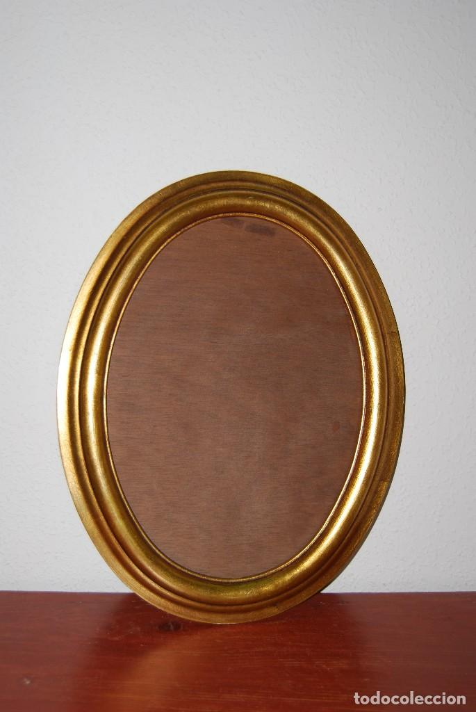 marco ovalado de madera - dorado - Comprar Marcos Antiguos de ...