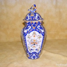 Antigüedades: JARRON CERAMICA ROUEN. Lote 67367637