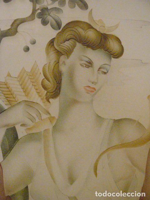 Antigüedades: PUERTA CRISTALERA PINTADA AL ACIDO - Foto 3 - 67372237