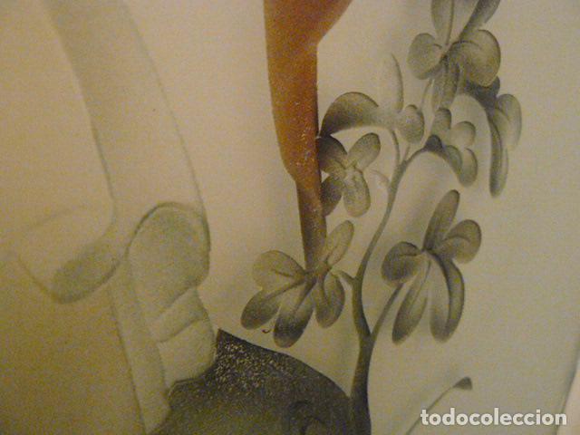 Antigüedades: PUERTA CRISTALERA PINTADA AL ACIDO - Foto 10 - 67372237