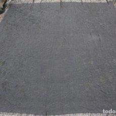 Antigüedades: MAN-04. MANTON DE MANILA DE SEDA, COLOR NEGRO. S.XX. 240 X 240 CM.. Lote 67386861