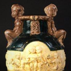 Antigüedades: GRAN JARRÓN. LOZA ESMALTADA. ART DÉCO. SEGARRA. MANISES(?) ESPAÑA. CIRCA 1920. Lote 67401157