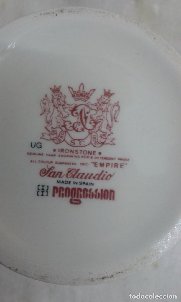 Antigüedades: TARRO PORCELANA ESPAÑOLA SAN CLAUDIO - Foto 5 - 67409889