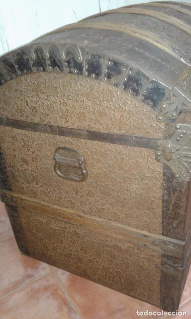 Antiguo ba l forrado en chapa de hierro s xix comprar - Chapa de hierro ...