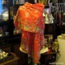 Antigüedades: ANTIGUO CHAL - ECHARPE DE CHIFFON CON ESPECTACULAR BORDADO A MANO. Lote 67416321