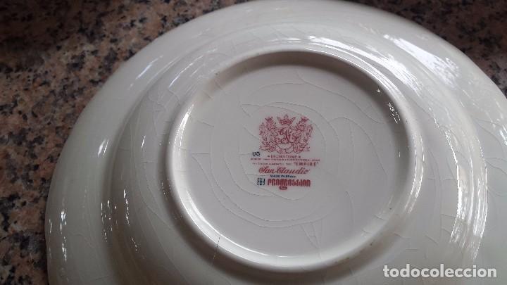 Antigüedades: juego de 2 platos san claudio- son solo 2 - Foto 3 - 130636947