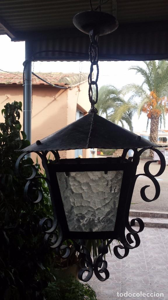PRECIOSO FAROL DE HIERRO (Antigüedades - Iluminación - Faroles Antiguos)