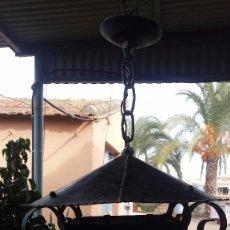 Antigüedades: PRECIOSO FAROL DE HIERRO. Lote 67474425