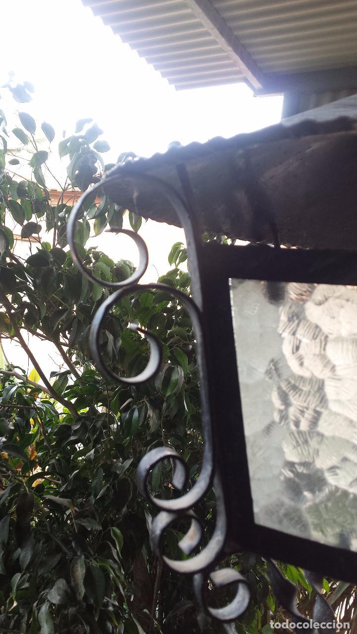 Antigüedades: precioso farol de hierro - Foto 5 - 67474425