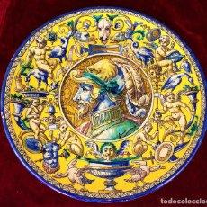 Antigüedades: GRAN PLATO EN CERÁMICA ESMALTADA. TRIANA.. SIGUIENDO MODELOS SIGLO XV. FIN XIX. Lote 67487961