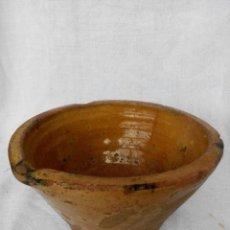 Antigüedades: ANTIGUO LEBRILLO DE BARRO ESMALTADO S.XIX. Lote 67495049